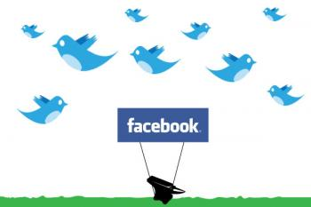 Twitter empieza a superar a Facebook